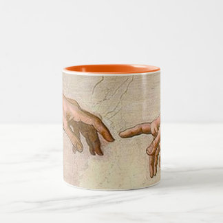 Michelangelo Creation of Adam Two-Tone Coffee Mug