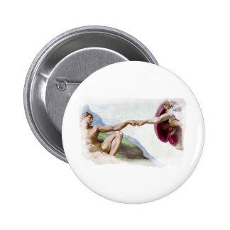 Michelangelo Creation Of Man Fist Bump Button