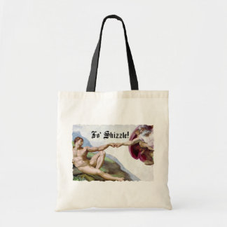 Michelangelo Creation Of Man Fist Bump Fo Shizzle Tote Bag
