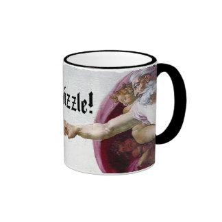 Michelangelo Creation Of Man Fo Shizzle Fist Bump Ringer Mug
