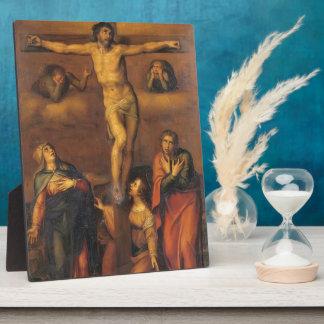 Michelangelo- Crucifixion Display Plaque