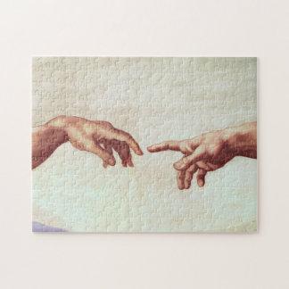 Michelangelo Hands Jigsaw Puzzle
