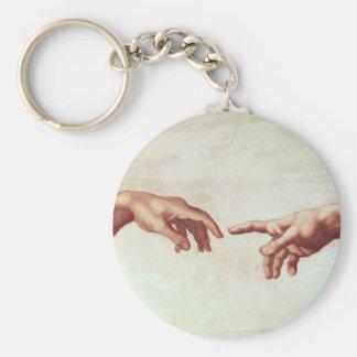 Michelangelo Hands Key Chain
