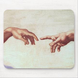 Michelangelo Hands Mouse Pad