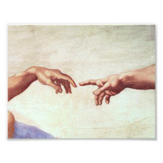 Michelangelo Hands Photo Print