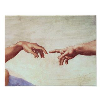 Michelangelo Hands Poster