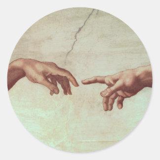 Michelangelo Hands Sticker