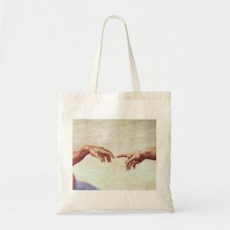 Michelangelo Hands Tote Bag