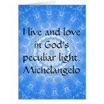 Michelangelo  inspirational QUOTE Cards