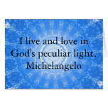 Michelangelo  inspirational QUOTE Greeting Cards