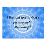 Michelangelo  inspirational QUOTE Post Cards