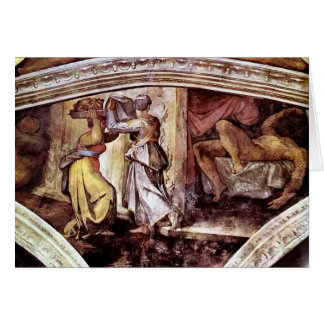 Michelangelo:Judith Carrying Head of Holofernes Greeting Card