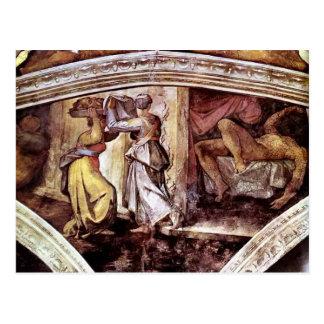 Michelangelo:Judith Carrying Head of Holofernes Postcard