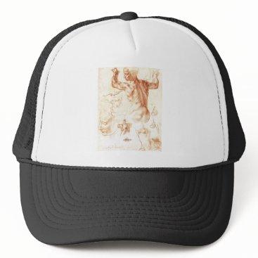 Halloween Themed Michelangelo - Libyan Sibyl painting Trucker Hat