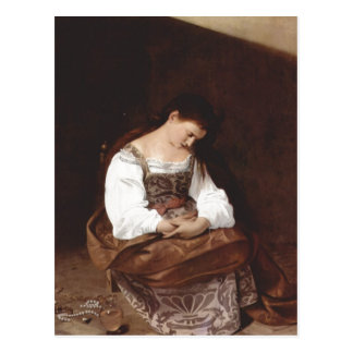 Michelangelo Merisi da Caravaggio Maria Magdalena  Postcard