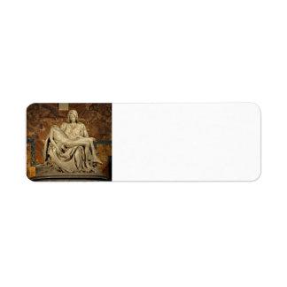 Michelangelo- Pieta Label