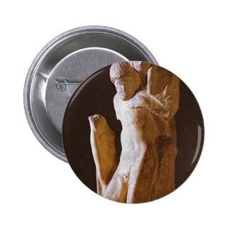 Michelangelo- Pieta Rondanini (unfinished) Pinback Buttons