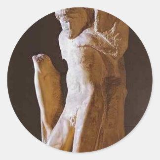Michelangelo- Pieta Rondanini (unfinished) Round Sticker