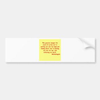 michelangelo quote bumper sticker