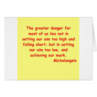 michelangelo quote card