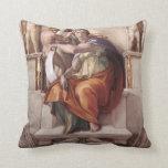 Michelangelo Renaissance Art Throw Pillows