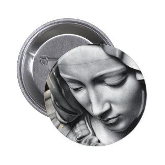 Michelangelo s Pieta detail of Virgin Mary s face Pins