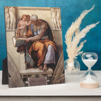 Michelangelo:Sistine Chapel Ceiling: Cumaean Sibyl Display Plaques