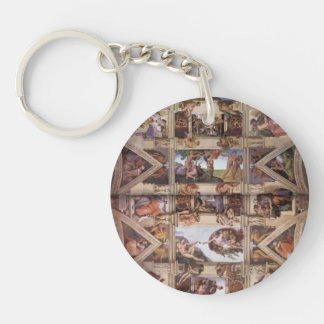 Michelangelo: Sistine Chapel Ceiling Single-Sided Round Acrylic Keychain