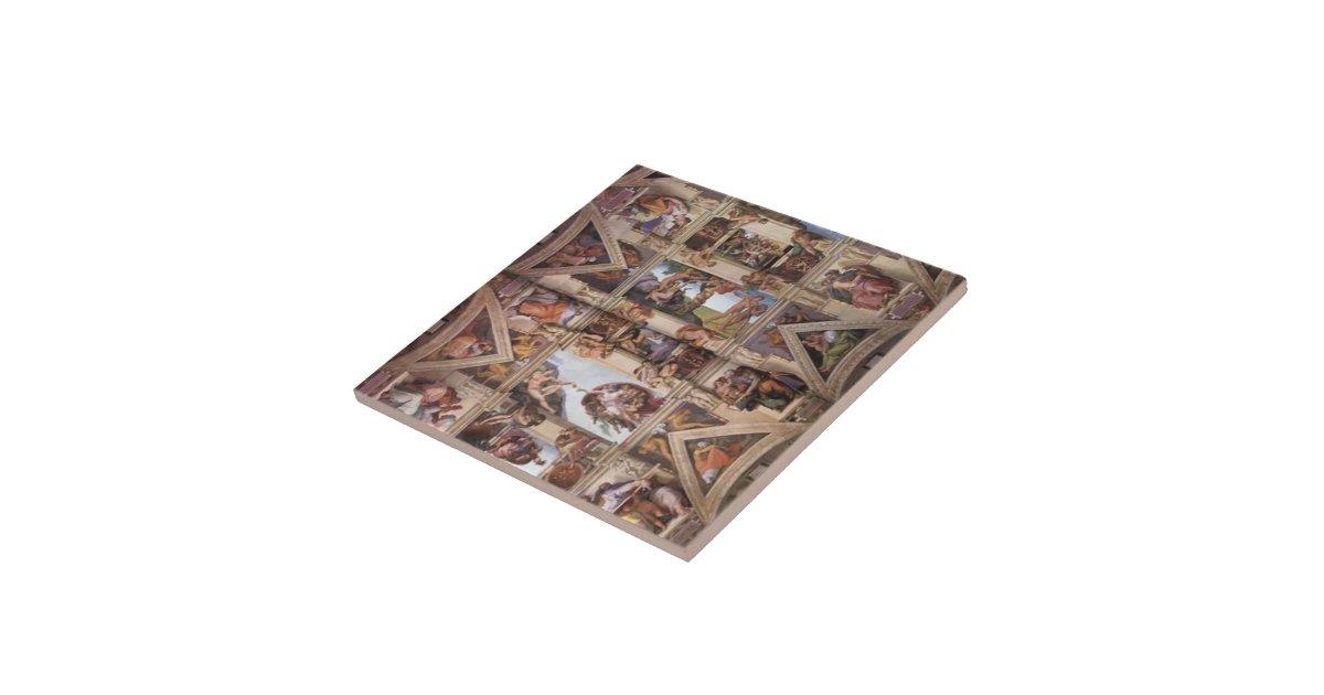 Michelangelo Sistine Chapel Ceiling Tile Zazzle