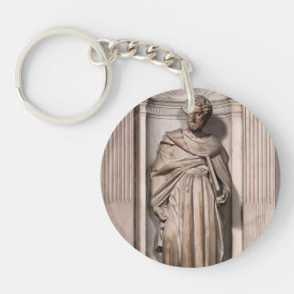 Michelangelo- St. Paul Single-Sided Round Acrylic Keychain