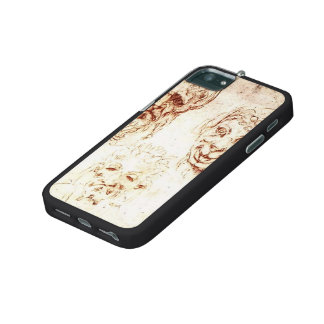 Michelangelo- Studies of Grotesques iPhone 5 Covers