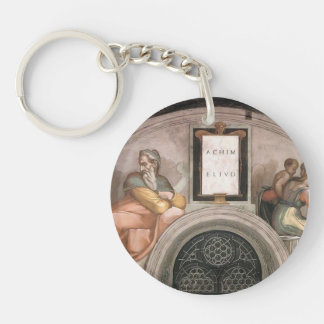 Michelangelo:The Ancestors of Christ: Achim, Eliud Single-Sided Round Acrylic Keychain