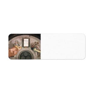 Michelangelo:The Ancestors of Christ: Achim, Eliud Return Address Labels