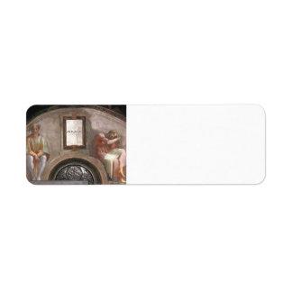 Michelangelo: The Ancestors of Christ: Amminadab Custom Return Address Label