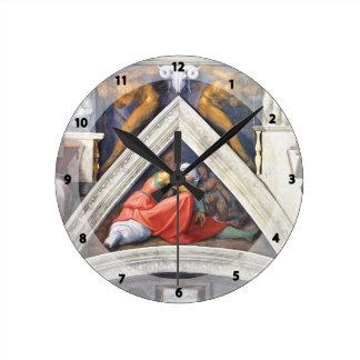 Michelangelo: The Ancestors of Christ: Asa Round Wallclock