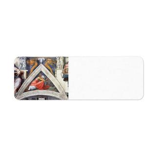 Michelangelo: The Ancestors of Christ: Asa Return Address Labels