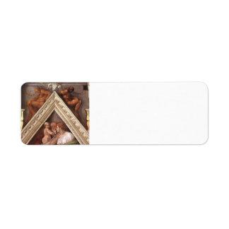 Michelangelo: The Ancestors of Christ: Hezekiah Custom Return Address Label