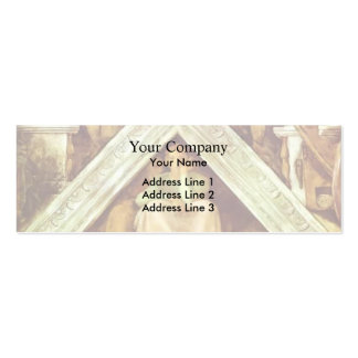 Michelangelo: The Ancestors of Christ: Jesse Double-Sided Mini Business Cards (Pack Of 20)