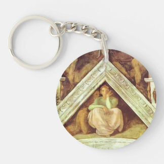 Michelangelo: The Ancestors of Christ: Jesse Single-Sided Round Acrylic Keychain