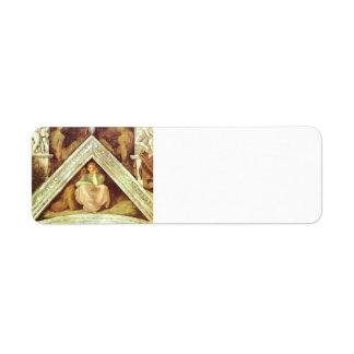 Michelangelo: The Ancestors of Christ: Jesse Return Address Label