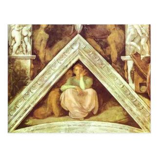 Michelangelo: The Ancestors of Christ: Jesse Postcard