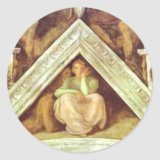 Michelangelo: The Ancestors of Christ: Jesse Classic Round Sticker