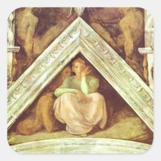 Michelangelo: The Ancestors of Christ: Jesse Square Sticker