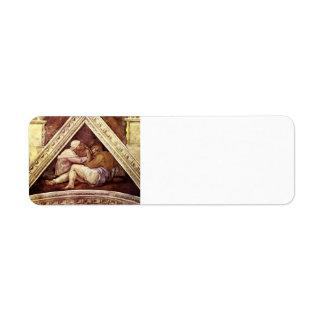 Michelangelo: The Ancestors of Christ: Josias Custom Return Address Label