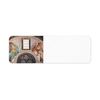 Michelangelo:The Ancestors of Christ: Jotham, Ahaz Custom Return Address Label