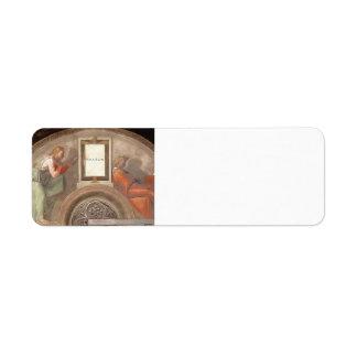 Michelangelo: The Ancestors of Christ: Nahshon Return Address Label