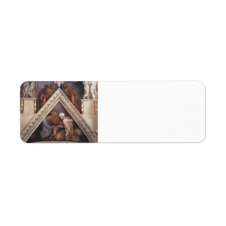 Michelangelo: The Ancestors of Christ: Ozias Custom Return Address Labels