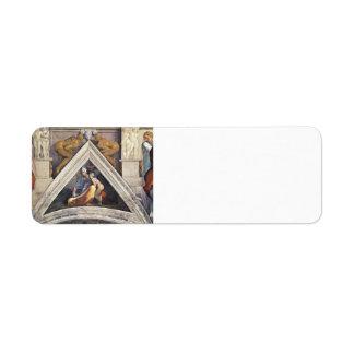Michelangelo: The Ancestors of Christ: Salmon Custom Return Address Label