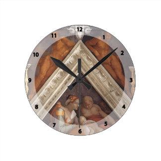 Michelangelo: The Ancestors of Christ: Zerubbabel Wall Clock