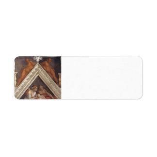 Michelangelo: The Ancestors of Christ: Zerubbabel Return Address Labels